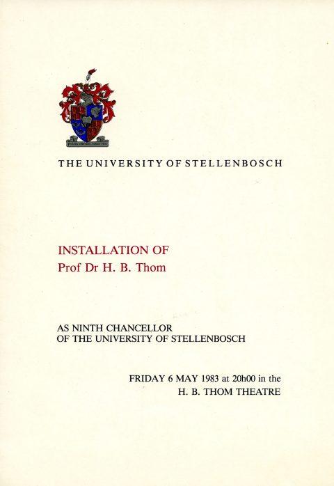 Timeline - Stellenbosch University