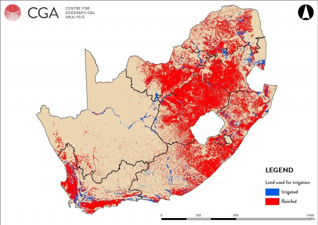 WRC SA Map of Irrigated Areas