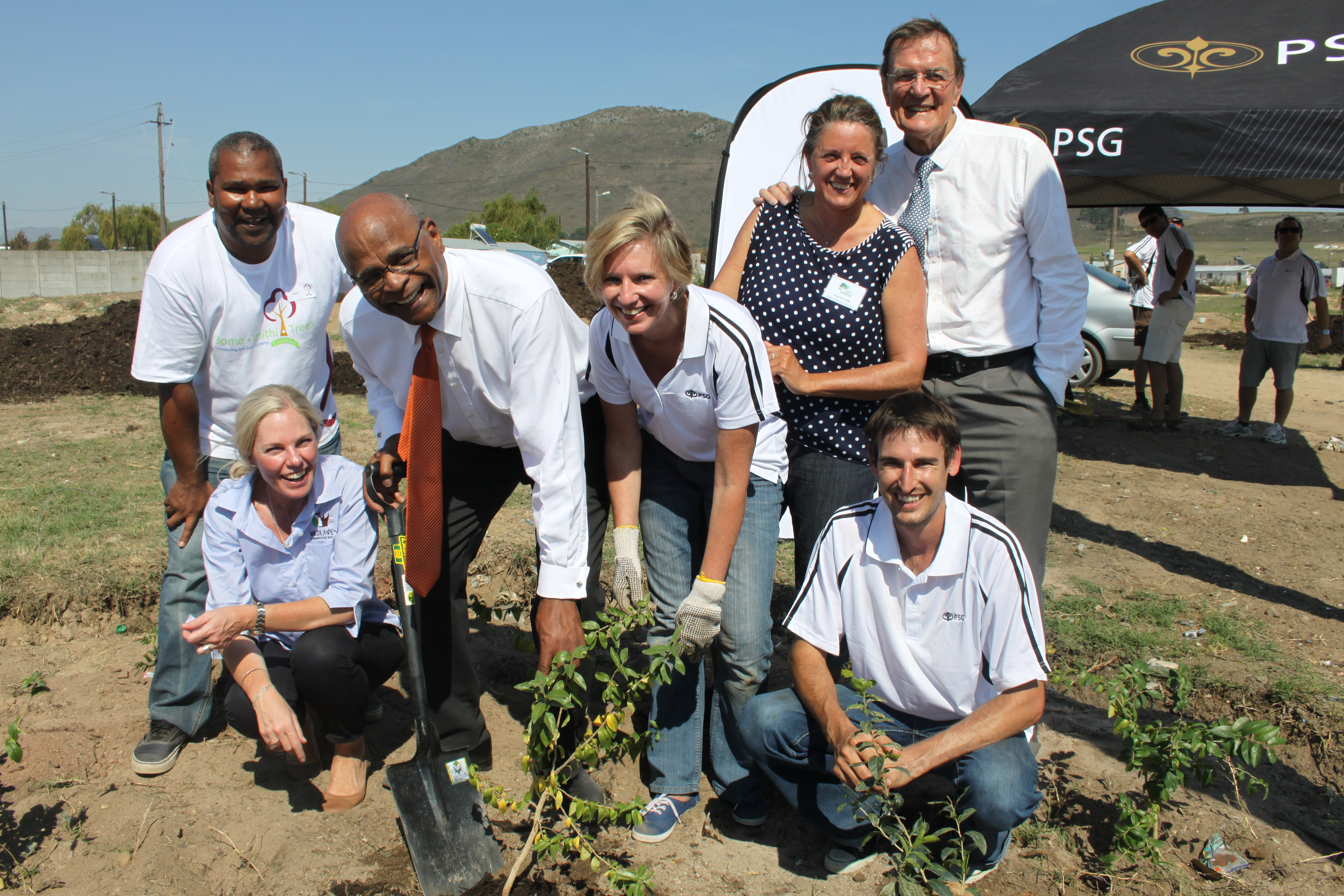 Planting day with the mayor of Stellenbosch