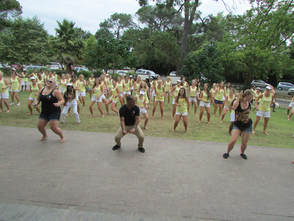 Maties Dance Society teaching some line dances