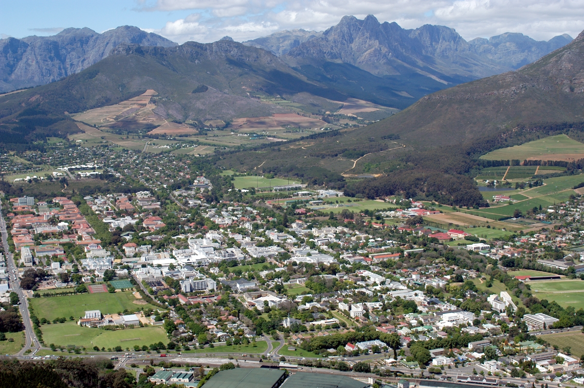 An Aerial Photo of Stellenbosch