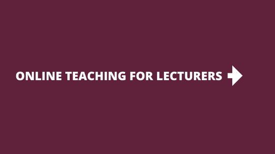 Resources for online teaching for Lecturers