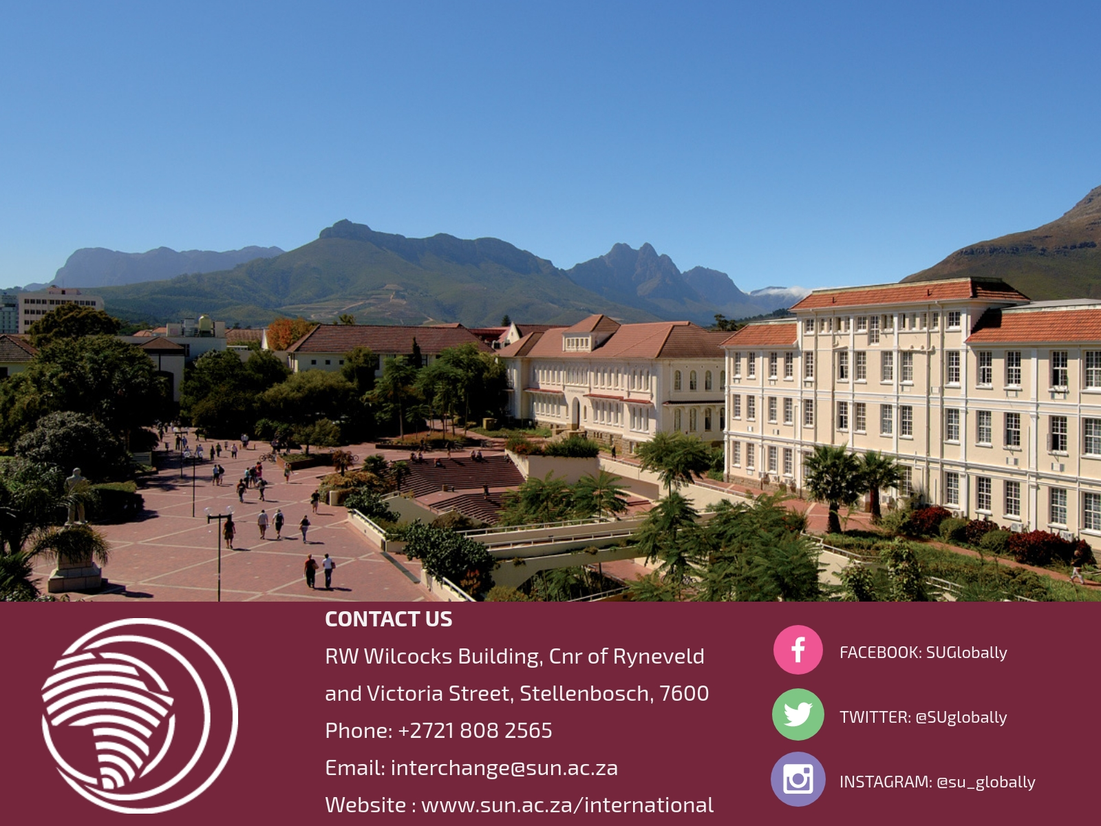 Aerial View of Stellenbosch Campus