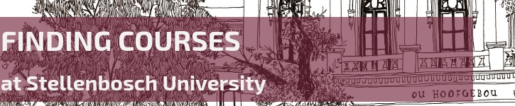 How to find course at Stellenbosch University