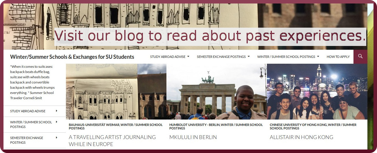 Blog Postings of Students that have been Abroad