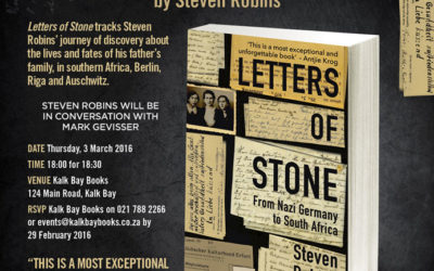 Book Launch: Letters of Stone by Steven Robins