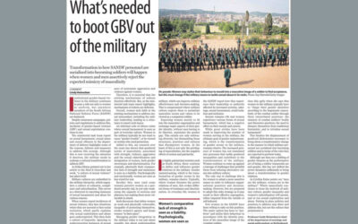 OP-ED: What's needed to boot GBV out of the military