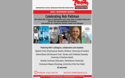 Celebrating Rob Pattman