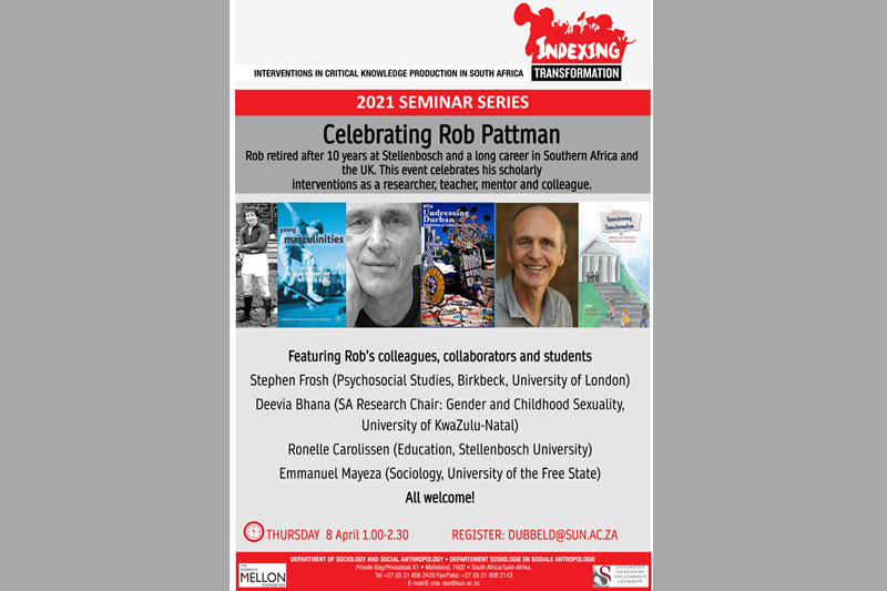 Celebrating Rob Pattman