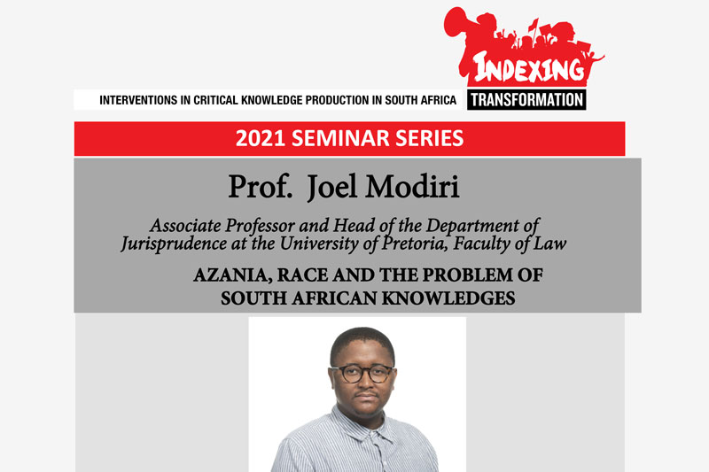 Azania, Race and the Problem of South African Knowledges